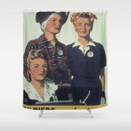 Vintage poster - Soldiers without guns Shower Curtain