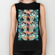 Colorful Abstract In Shreds Biker Tank