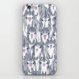 unicorn love navy orchid iPhone Skin