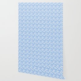 Military Camouflage Pattern - Blue White Wallpaper