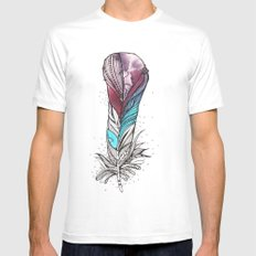 Monsoon Feather Mens Fitted Tee MEDIUM White