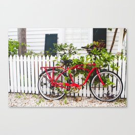 Key West Bike Canvas Print