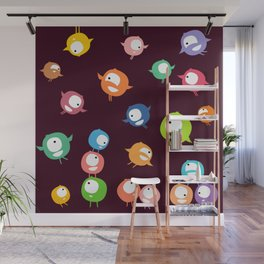 Tiny hyperactive creatures Wall Mural
