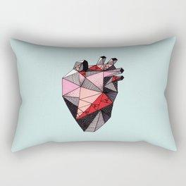 Single Anatomical Heart Rectangular Pillow