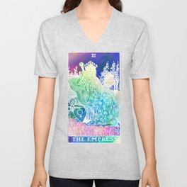 The Empress- A Beautiful Watercolour Inspired Soft Tarot Print Unisex V-Neck