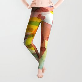 Blurry Mushroom and other Things Leggings