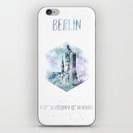 Coordinates BERLIN   jazzy watercolor iPhone Skin