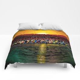 Angel Island Sunset (Square) Comforters