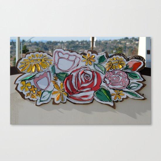 Street Flowers Canvas Print