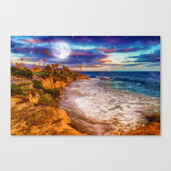 Laguna Moon Canvas Print
