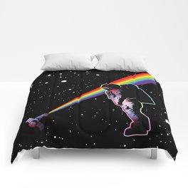 Rainbow Astronaut in Space  Comforters