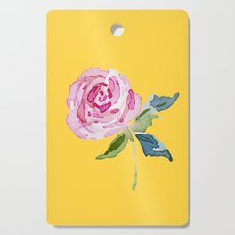 Watercolor Rose Cutting Board