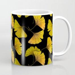 Ginkgo Leaf (Fall) - Black Coffee Mug