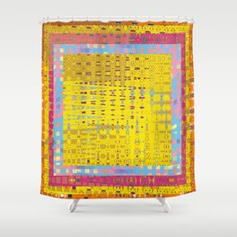 Abstract Color Graphic Sunshine Shower Curtain