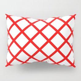 Criss-Cross (Red & White Pattern) Pillow Sham