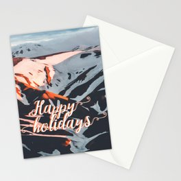 Golden Hour PNW Glacier Mountain Hike Stationery Cards