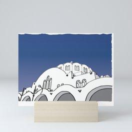 Santorini Blue Sky Gallery Mini Art Print