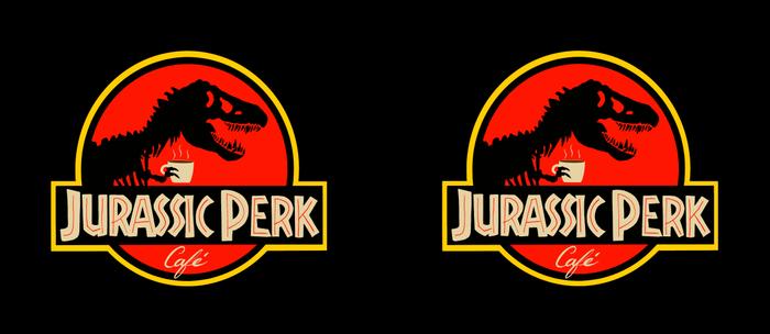 Jurassic Perk Cafe Coffee Mug