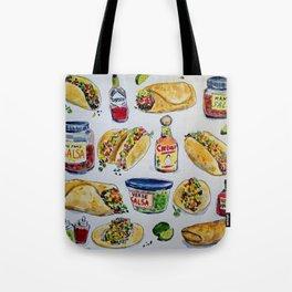 tacos burritos hot sauce and salsa Tote Bag