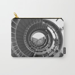 Gray's Harbor Lighthouse Stairwell Spiral Architecture Washington Nautical Coastal Black and White Carry-All Pouch