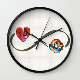 Infinity Love Knot - Always And Forever - Sharon Cummings Wall Clock