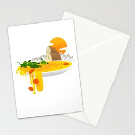 Green peas kayaking Stationery Cards