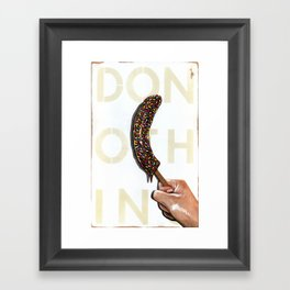 DO NOTHING Frozen Banana with sprinkles   Framed Art Print