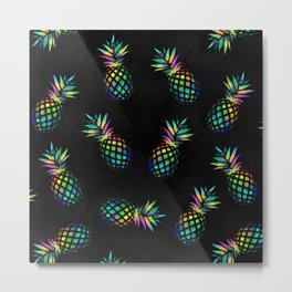 Iridescent pineapples Metal Print