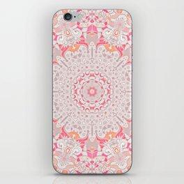 BOHO SUMMER JOURNEY MANDALA - PASTEL ROSE PINK iPhone Skin