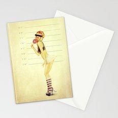 Pin Up Mugshot Stationery Cards