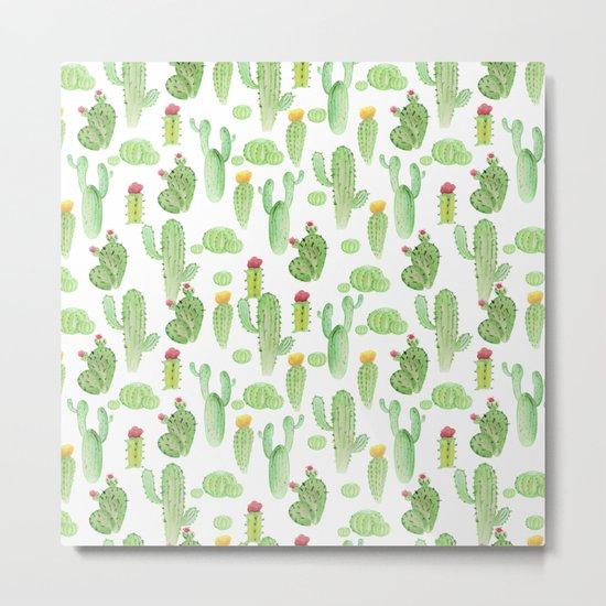 Cactus Pattern Metal Print