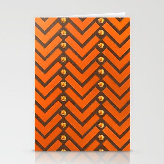 Gold Patterns Stationery Cards