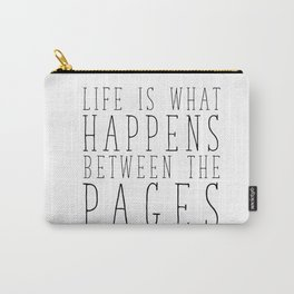 Between The Pages - White Carry-All Pouch