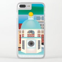 Halifax, Nova Scotia, Canada - Skyline Illustration by Loose Petals Clear iPhone Case