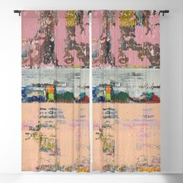 Dogbane Pink Abstract Painting Print Blackout Curtain