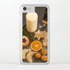 Christmas pastry Clear iPhone Case