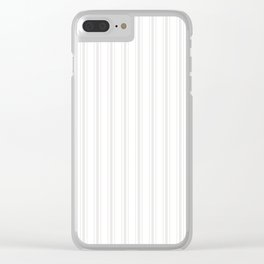 Creamy Tofu White Mattress Ticking Wide Striped Pattern - Fall Fashion 2018 Clear iPhone Case