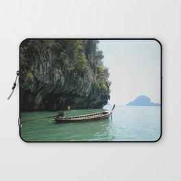 boat on the beautiful sea Maya Bay Phuket Thailand Laptop Sleeve