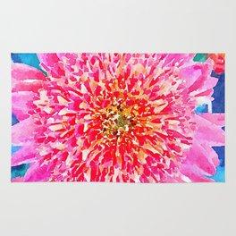 Pink Watercolor Flower Rug