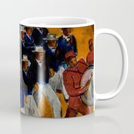 Classical African American Landscape 'Elks Marching' by Malvin Gray Johnson Coffee Mug