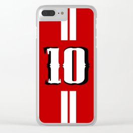 Ten jersey number Clear iPhone Case