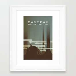 Outer Rim Travel Bureau: Dagobah Framed Art Print
