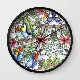 Wild Birds Wall Clock