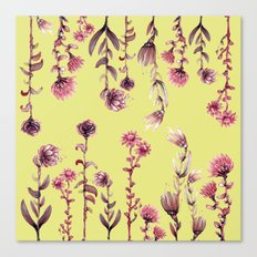 yellow back, pink nature Canvas Print