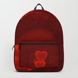 Red Hearts St. Valentine's Galentine's Sweetest Day love Burgundy Bordo Vinous Ruby Garnet Pattern Backpack