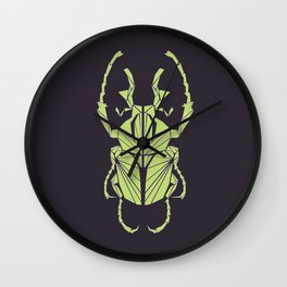 Envious Beetle - Geometric Insect Design Wall Clock