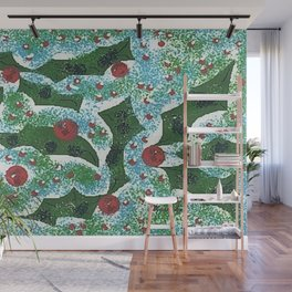 """"""" Holly Berry Pattern """" Wall Mural"""