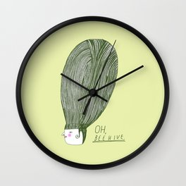 Oh Beehive Wall Clock