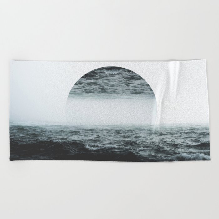 Staring at your ghost Beach Towel