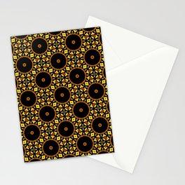 Christmas Sphere Mosaic Flower Mandala Pattern Stationery Cards